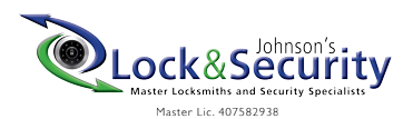 Johnson's Lock and Security Sticky Logo